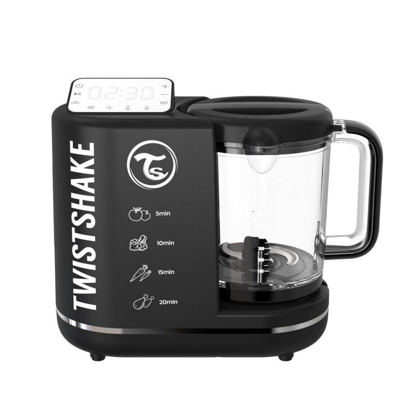Twistshake Food Processor Комбайн 6 в 1 для приготовления детского питания, Чёрный, промонабор